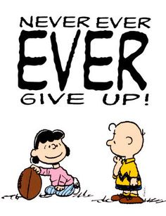 Charlie Brown   Never Ever Ever Give Up  Fridge by MagnetsbyAbby