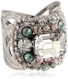 Sorrelli Crystal Rock Studded Rhinestone Band Antique Silver Tone Adjustable Ring Sorrelli, To SEE or BUY just CLICK on AMAZON right here http://www.amazon.com/dp/B00IF8ST7A/ref=cm_sw_r_pi_dp_-CdEtb1QT7R15EQD