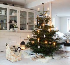 christbaumdeko weiß - Google-Suche Christmas Time, Holiday Decor, Home Decor, Decoration, Winter, Google, Glass Display Case, Noel, Rustic Christmas Trees