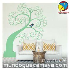 Contáctanos Whats App: 3212004656. Vinilos decorativos Arboles, tallos y naturaleza ¿Quieres unos para tu espacio? www.mundoguacamaya.comBogotá Colombia