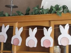 Bunny Bunting - Clean and Scentsible - includes a free downloadable template if you don't want to make your own!