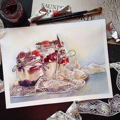 Watercolorist: @maria.mishkareva #waterblog #акварель #aquarelle #painting #drawing #art #artist #artwork #painting #illustration #watercolor #aquarela