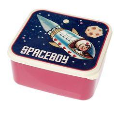 5,90EURLunchbox Butterbrotdose mit Raumschiff und Sternen Astronaut www.pinjafashion.com