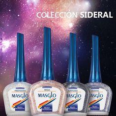 Colección Sideral #masglo #masglolovers #4free #4freestyle #nailpolish #nails #nail #nailart #nailswag #naildesign #nailartist #nailaddict #naillacquer Vodka Bottle, Nailart, Drinks, Colour Chart, Nail Art, Fingernail Designs, Maquillaje, Clothes, Beverages