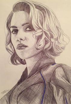 the-other-sam: Natasha Romanoff aka Black Widow. - Hey everyone - bored - Marvel Avengers Drawings, Avengers Art, Marvel Art, Marvel Comics, Natasha Romanoff, Black Widow Drawing, Pencil Drawings, Art Drawings, Horse Drawings