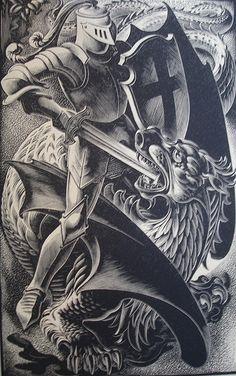 woodcut by John Austen & Agnes Miller Parker
