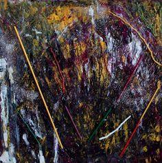Parabola della zizzania    È stata utilizzata tecnica mista materica, l'opera e composta di una  tela 50 x 50 x 4,5 cm.    Foto provvisoria