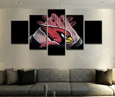 Arizona Cardinals Painting Canvas Wall Art Picture – Best Funny Store
