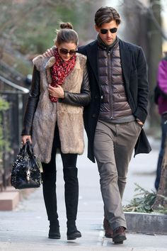 The Olivia Palermo Lookbook : Olivia Palermo with Johannes Huebl in the West Vil...