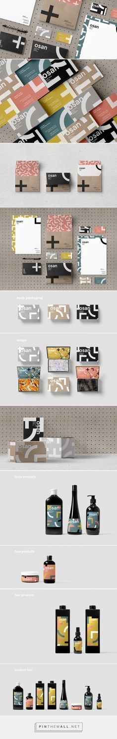 Osan Cosmetics packaging design concept by Ronnie Alley - http://www.packagingoftheworld.com/2017/08/osan-cosmetics.html