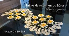 Trilho de mesa Flor de lótus – Passo a passo em PDF | Loja - Croche.com.br