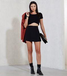 Reformation Valentina Skirt in Black