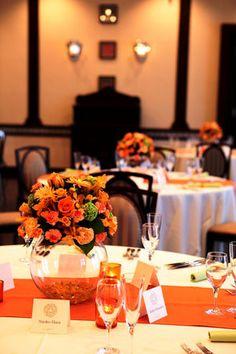 【ウェディング】オレンジ・イエローのおしゃれなテーブルコーディネート・装花集【結婚式】 - NAVER まとめ