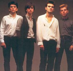the smiths album cover. The Smiths are, or were, Mike Joyce, Johnny Marr, Steven Morrissey and Andy Rourke. In an intense 5 years Between 1983 and 1987 The Smiths released almost 20 singles and 7 albums, and are recognised by the critics as one of the most significant bands of the 1980's. It is difficult to believe that Morrissey has been a solo artist longer than 2 lifetimes of The Smiths.