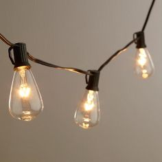Inspired by the vintage light bulbs invented by Thomas Edison, our stylish string lights illuminate your decor with a warm, ambient glow. Available in 10-bulb and 30-bulb strings to best fit your space, these exclusive lights are perfect indoors or outside.