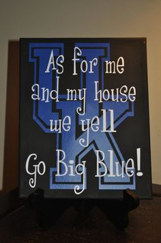 Kentucky Wildcats Canvas! I don't need this, but most of my old kentucky home does. Need this for NC State!! Go Pack!