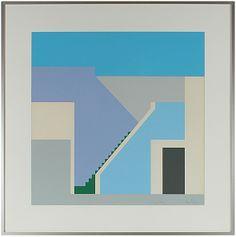 "Phelan ""Sky Stairs"" 1977 Serigraph"