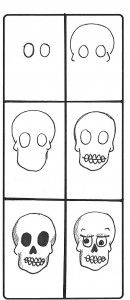 How to draw scary stuff skulldrawing