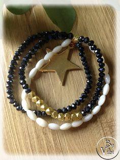 Bracelet multi rangs cristal et nacre par ByVibi sur Etsy