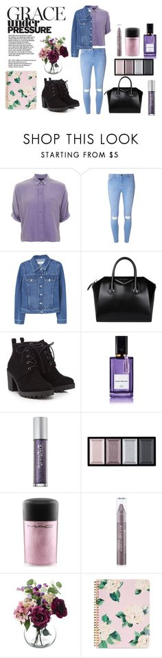 """Purple"" by lenka-skodiova ❤ liked on Polyvore featuring Topshop, Dorothy Perkins, MANGO, Givenchy, Red Herring, Diana Vreeland, Urban Decay, Clé de Peau Beauté, MAC Cosmetics and Forever 21"