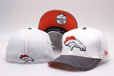 a6b035eb37916 NFL Denver Broncos Team Logo Size Hat Peaked Cap Baseball Hats Size S-M and  L-XL