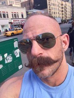 My kinda Sam Walrus Mustache, Mustache Styles, Beard No Mustache, Hairy Men, Bearded Men, Beard Images, Handlebar Mustache, Male Pattern Baldness, Sexy Beard