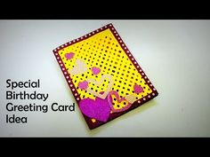 Welcome to handmade cards ideas channel. In this video, i am going to show you guys how to make special birthday greeting card idea. Special Birthday Cards, Simple Birthday Cards, Handmade Birthday Cards, Birthday Greeting Cards, Birthday Greetings, Greeting Cards Handmade, Birthday Wishes, Quilling Flowers, Quilling Cards