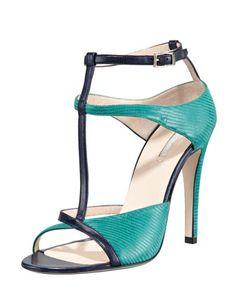 Giorgio Armani Open toe t-strap sandals
