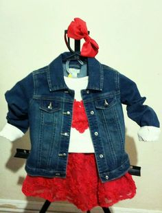 Toddler girl size 4t Gorgeous 5 piece Children's Place Red Blue white outfit set #ChildrensPlace #DressyEverydayHoliday