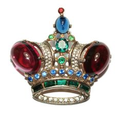 Trifari-Sterling-King-Crown-Pin-Brooch-1940s-Ad-Pc