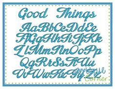 Good things font