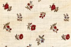 1775-1800 ca. Fabric Detail of Miniature Bed Hanging, France. Cotton. www.collection.cooperhewitt.org