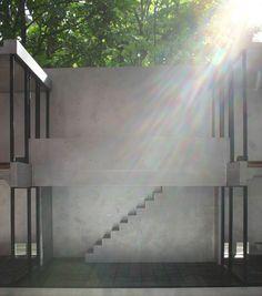 Tadao Ando (Sumiyoshi's tenement house)Model/  scale: 1/10  materials: Duralumin