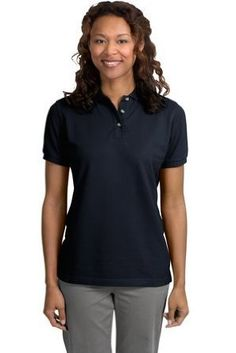 Port Authority Ladies Pique Sport Shirt (L420) Available in 24 Colors Medium Classic Navy Port Authority. $21.33