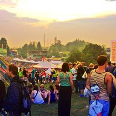 .@jasminnovak   #openair #gurten #2013 #sunset #festival