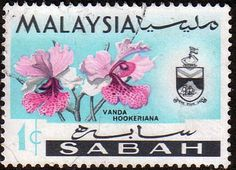 Sabah 1965 Orchids Vanda Hookeriana Fine Used SG 424 Scott 17 Other Asian and British Commonwealth Stamps HERE!