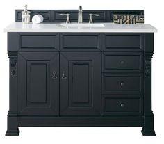 "Bosco Brookfield 48"" Antique Black w/ Drawers Single Vanity"