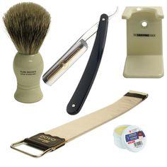 Cuthroat/Open Razor Starter Kit :: Straight Razors & Cut-Throat Razors :: Razors :: The Shaving Shack