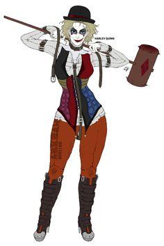 Harley Quinn Concept V2 by GraphiteGrey on @DeviantArt