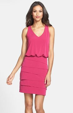 Laundry by Shelli Segal Tiered Blouson Dress (Nordstrom Online Exclusive) available at #Nordstrom