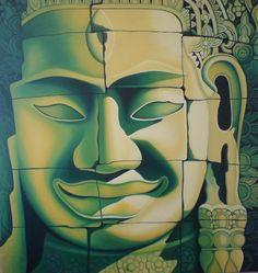 Deep in the Jungle by Danielle Shazell Aztec Temple, Jungle Temple, Cambodian Art, Vietnam, Myanmar Travel, Angkor Wat, Stone Carving, Buddha, Deep