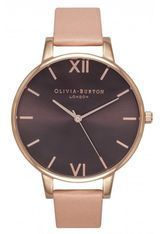 Olivia Burton - Big Dial - Brown Dial, Dusty Pink and Rose Gold