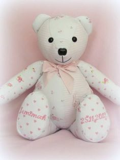 Memory Bear made from babygrows & dresses