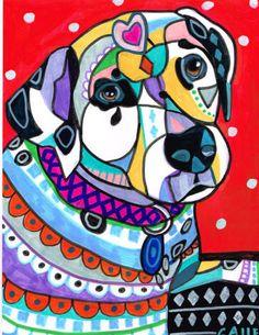 DALMATIAN ART  Dog Print  Dalmatian Dog Art by HeatherGallerArt, $24.00