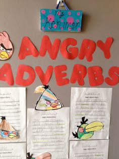 The kids were so excited to practice adverbs by writing angry adverb stories about the birds. First Grade Blogs, First Grade Writing, Second Grade, Writing Art, Writing Ideas, Student Teaching, Teaching Grammar, Teachers Corner, Teaching Activities