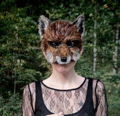 Red Fox Mask, Woodland Fox Mask. $52.00, via Etsy.