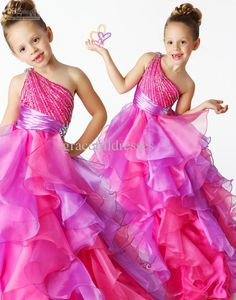 Rainbow pageant dresses for kids dresses for weddings kids evening gowns flower girl dress 2013 f211