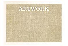 Burlap Bulletin Board, White Artwork