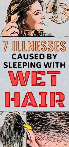 Many of us have the habit of going to bed with wet hair. However, you should know that this is a huge mistake Health And Wellness Quotes, Health And Fitness Tips, Wellness Tips, Health And Wellbeing, Health And Nutrition, Fitness Workout For Women, Fitness App, Self Care Activities, Wellness Activities
