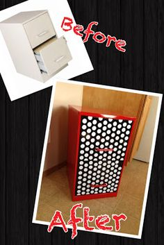Filing Cabinet Makeover! I need one of these so I can organize my important documents! These elementary school folders are too full and worn out.